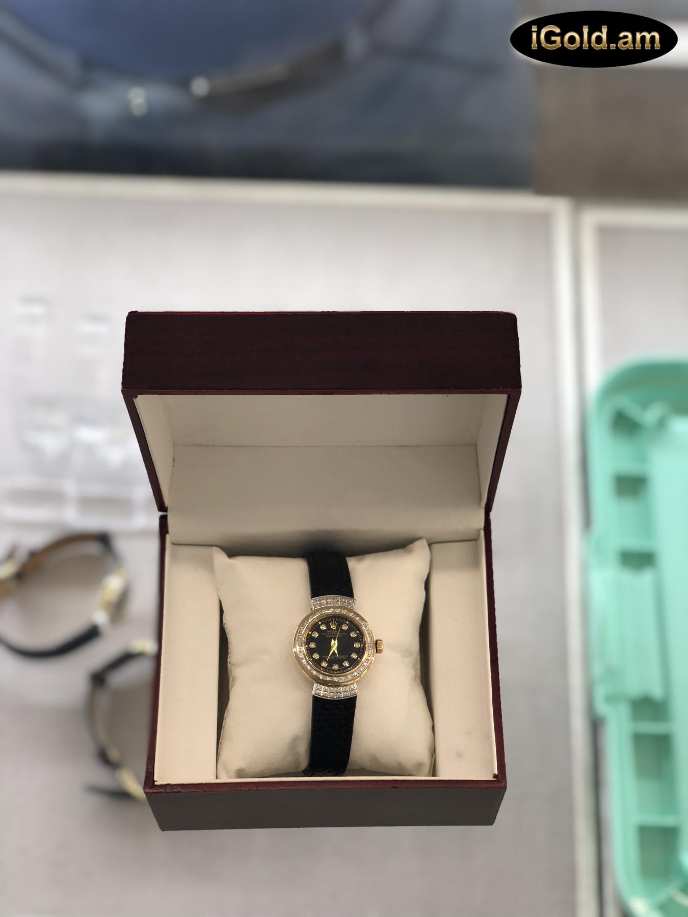 Ոսկյա կանացի ժամացույց ադամանդով - 4.5 - կոդ 151-723 voskya kanaci jamacuyc adamandov - 4.5