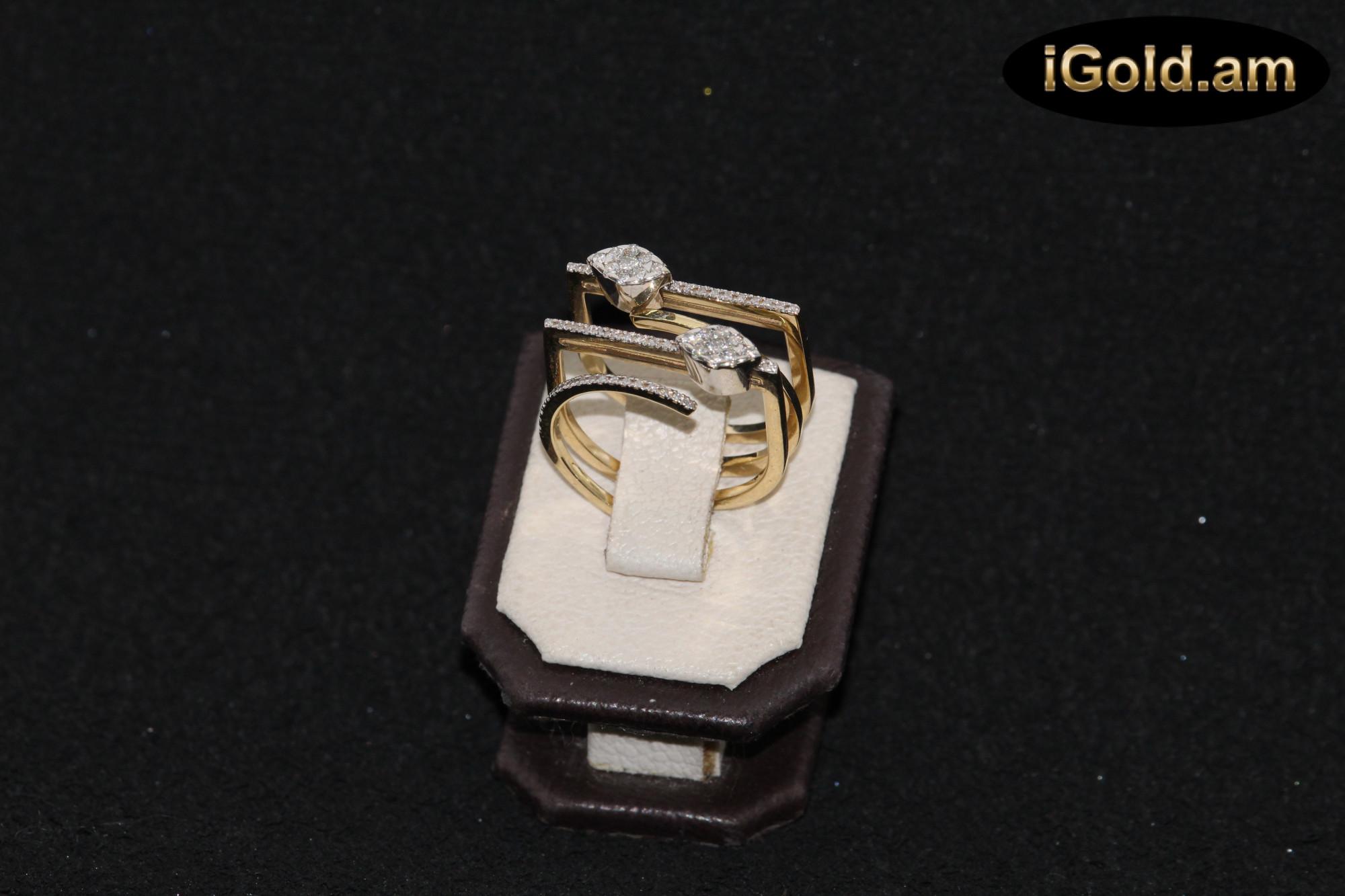 Ոսկյա կանացի մատանի ադամանդով - 8.1 գր - կոդ 145-113 voskya kanaci matani adamandov - 8.1 gr