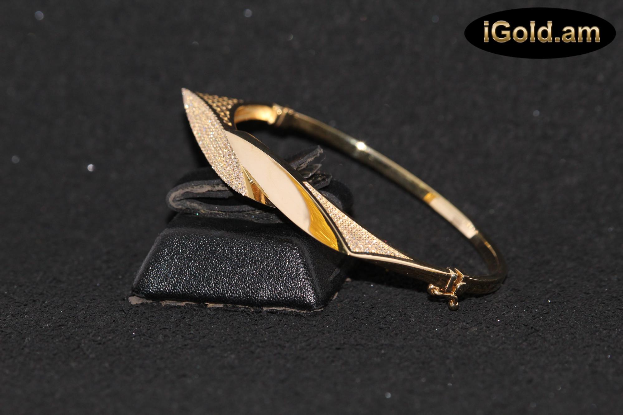 Ոսկյա կանացի թևնոց - 10.8 գր - կոդ 119-100 voskya kanaci tevnoc - 10.8 gr