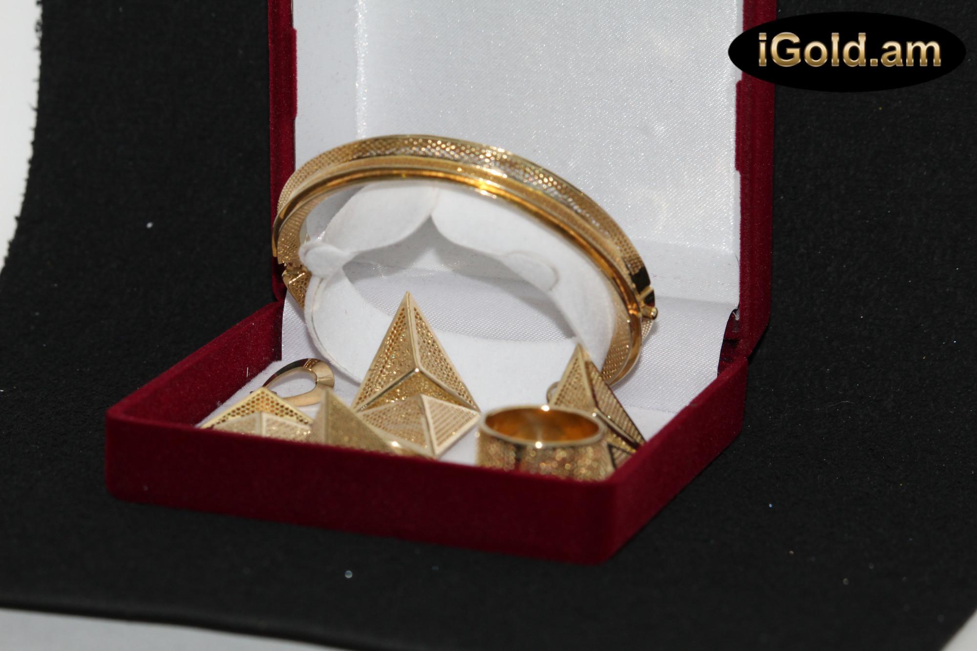 Ոսկյա կանացի ականջօղեր - 8.6 գր - կոդ 118-106 voskya kanaci akanjoxer - 8.6 gr