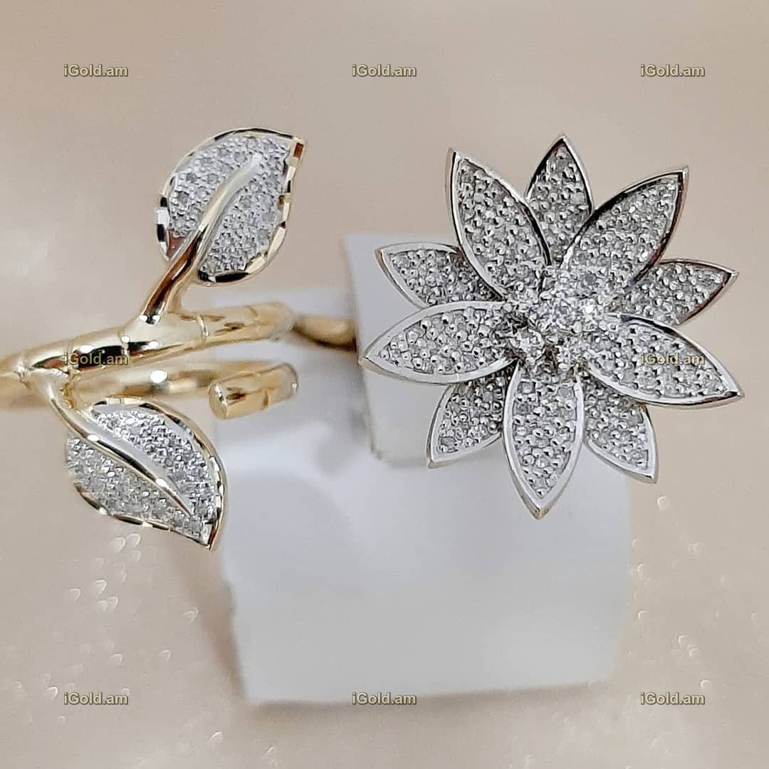 կանացի Էքսքլյուզիվ զարդեր՝ պատրաստված ոսկյա և ադամանդե - 11.7 գր - ԿՈԴ 152-618 kanaci Eqsqlyuziv zarder՝ patrastvac voskya ev adamande - 11.7 gr