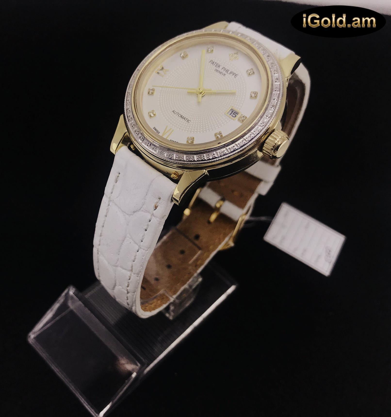 Ոսկյա կանացի, տղամարդու ժամացույց ադամանդով - 8 - կոդ 151-934 voskya kanaci, txamardu jamacuyc adamandov - 8