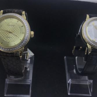 Ոսկյա կանացի, տղամարդու ժամացույց ադամանդով - 11 - կոդ 151-946 voskya kanaci, txamardu jamacuyc adamandov - 11