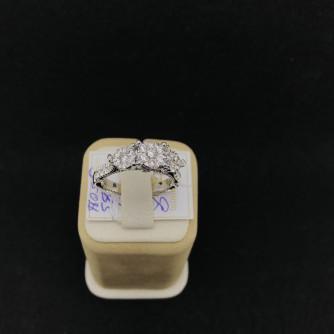 Ոսկի կանացի մատանի ադամանդով - 5 - կոդ 151-907 voski kanaci matani adamandov - 5