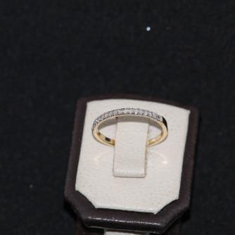 Ամուսնական մատանիներ կանացի ադամանդով - 2 գր - կոդ 129-144 amusnakan mataniner kanaci adamandov - 2 gr