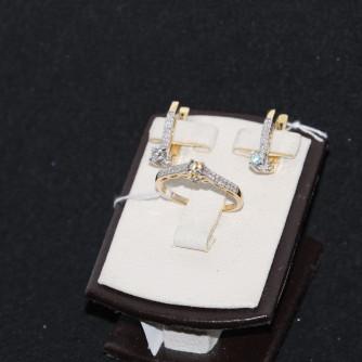 Ոսկյա կանացի հավաքածու ադամանդով - 6.2 գր - կոդ 135-139 voskya kanaci havaqacu adamandov - 6.2 gr