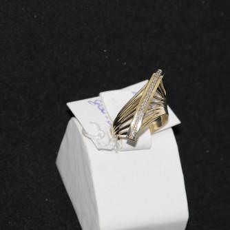 Ոսկյա կանացի մատանի ադամանդով - 3 գր - կոդ 138-140 voskya kanaci matani adamandov - 3 gr