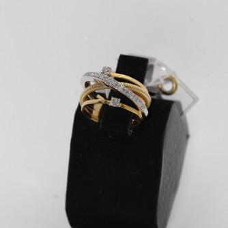 Ոսկյա կանացի մատանի ադամանդով - 6.1 գր - կոդ 118-101 voskya kanaci matani adamandov - 6.1 gr