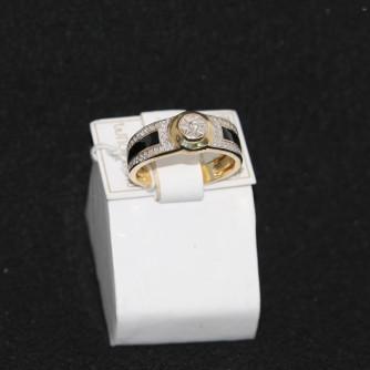Ոսկյա կանացի մատանի ադամանդով - 6.74 գր - կոդ 106-103 voskya kanaci matani adamandov - 6.74 gr