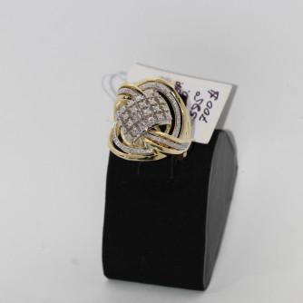 Ոսկյա կանացի մատանի ադամանդով - 9 գր - կոդ 112-110 voskya kanaci matani adamandov - 9 gr
