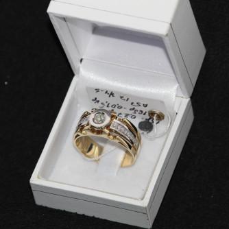 Ամուսնական մատանիներ տղամարդու ադամանդով - 8.8 գր - կոդ 122-139 amusnakan mataniner txamardu adamandov - 8.8 gr