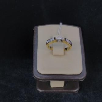 Ոսկյա կանացի մատանի ադամանդով - 3.86 - կոդ 151-800 voskya kanaci matani adamandov - 3.86