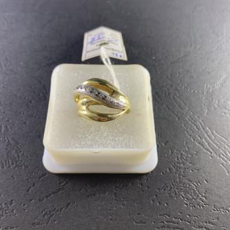 Ոսկյա կանացի մատանի ցիրկոնով - 3.8 - կոդ 152-446 voskya kanaci matani cirkonov - 3.8