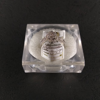 Նշանադրեքի մատանիներ կանացի ադամանդով - 4.5 - կոդ 152-043 nshanadreqi mataniner kanaci adamandov - 4.5