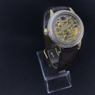 Ոսկյա կանացի, տղամարդու ժամացույց ադամանդով - 8 - կոդ 151-942 voskya kanaci, txamardu jamacuyc adamandov - 8