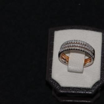 Ամուսնական մատանիներ կանացի ադամանդով - 5.5 գր - կոդ 111-130 amusnakan mataniner kanaci adamandov - 5.5 gr
