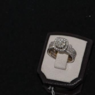 Ամուսնական մատանիներ կանացի ադամանդով - 6.5 գր - կոդ 123-103 amusnakan mataniner kanaci adamandov - 6.5 gr