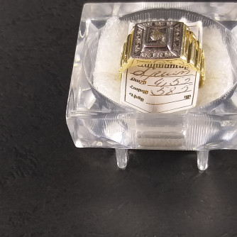 Ոսկյա տղամարդու մատանի ադամանդով - 4.5 - կոդ 152-050 voskya txamardu matani adamandov - 4.5